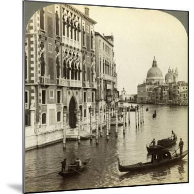 The Grand Canal, Venice, Italy-Underwood & Underwood-Mounted Photographic Print