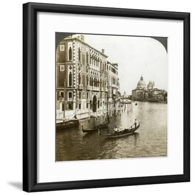 The Grand Canal, Venice, Italy-Underwood & Underwood-Framed Photographic Print