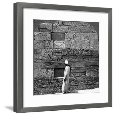 Great War Reliefs Sculptured in the Wall at Karnak Temple, Thebes, Egypt, 1905-Underwood & Underwood-Framed Photographic Print