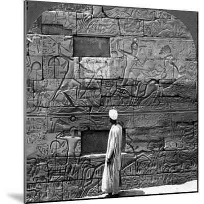 Great War Reliefs Sculptured in the Wall at Karnak Temple, Thebes, Egypt, 1905-Underwood & Underwood-Mounted Photographic Print