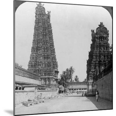 Gopuram, Sri Meenakshi Hindu Temple, Madurai, Tamil Nadu, India, C1900s-Underwood & Underwood-Mounted Photographic Print