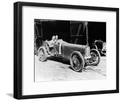 Kenelm Lee Guinness and Perkins with an 8 Cylinder Sunbeam, 1922--Framed Photographic Print