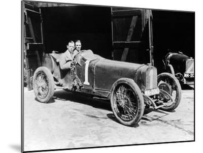 Kenelm Lee Guinness and Perkins with an 8 Cylinder Sunbeam, 1922--Mounted Photographic Print