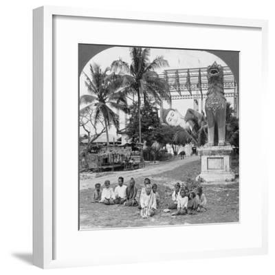 Giant Recumbent Figure of Buddha, Pegu, Burma, 1908--Framed Photographic Print