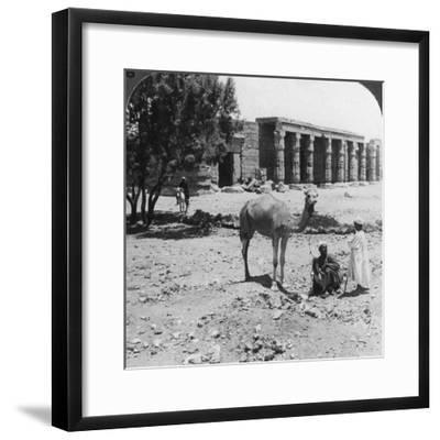 Looking North to the Temple of Sethos I, Thebes, Egypt, 1905-Underwood & Underwood-Framed Photographic Print