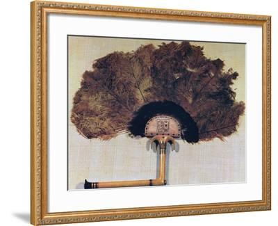 Ivory Fan Trimmed with Ostrich Feathers, from the Tomb of Tutankhamun, 14th Century Bc--Framed Photographic Print