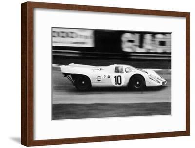 Gulf Porsche 917 in Action, C1970-C1971--Framed Photographic Print