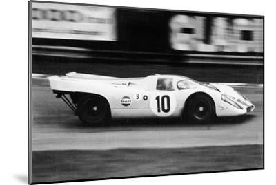 Gulf Porsche 917 in Action, C1970-C1971--Mounted Photographic Print