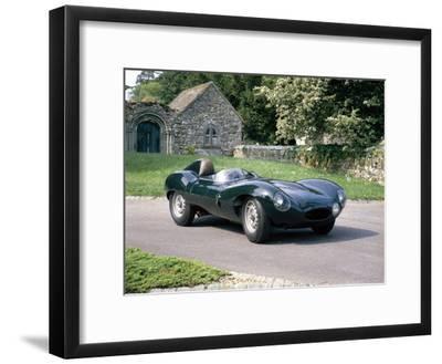 1954 Jaguar D Type--Framed Photographic Print