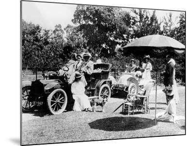 A Driving Party, (Early 1900s)--Mounted Photographic Print