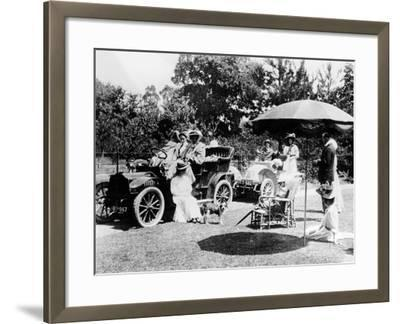 A Driving Party, (Early 1900s)--Framed Photographic Print