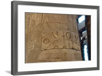 Hieroglyphics Carved on a Column at the Temple of Karnak, Egypt, C14th-13th Century Bc--Framed Photographic Print