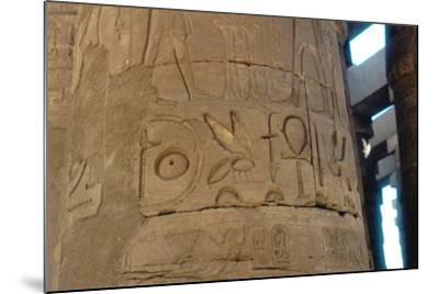 Hieroglyphics Carved on a Column at the Temple of Karnak, Egypt, C14th-13th Century Bc--Mounted Photographic Print