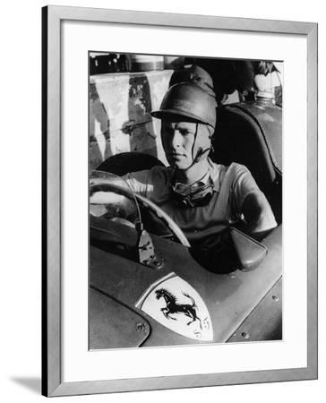 Peter Collins in a Ferrari, C1956--Framed Photographic Print