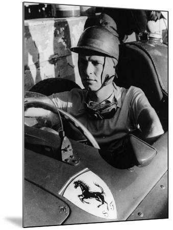 Peter Collins in a Ferrari, C1956--Mounted Photographic Print