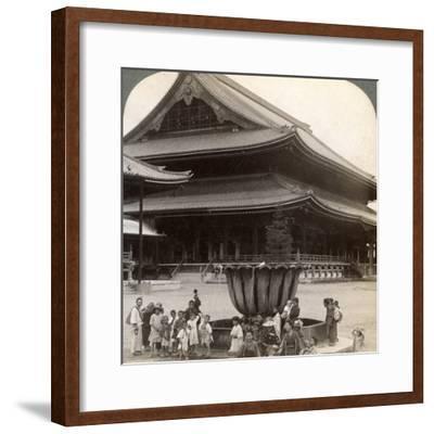 Main Front of Higashi Hongan-Ji, Largest Buddhist Temple in Japan, Kyoto, 1904-Underwood & Underwood-Framed Photographic Print