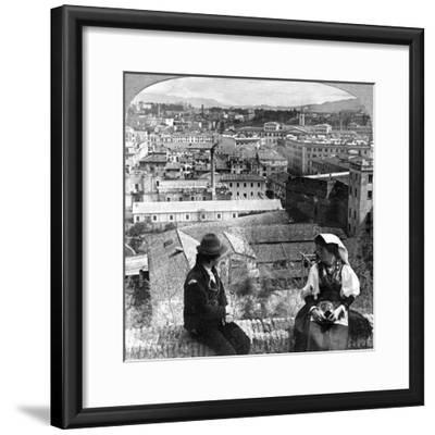 Aventine Hill and the Alban Hills, Rome, Italy-Underwood & Underwood-Framed Photographic Print