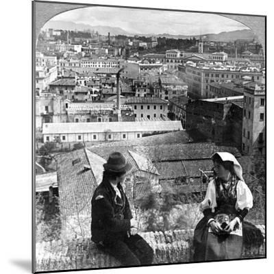 Aventine Hill and the Alban Hills, Rome, Italy-Underwood & Underwood-Mounted Photographic Print