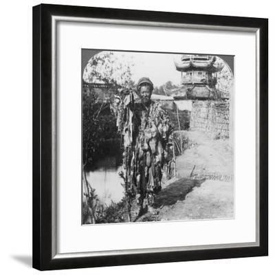 King of the Beggars, Loong Wah, China, Late 19th or Early 20th Century-Underwood & Underwood-Framed Photographic Print