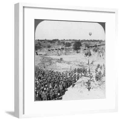 Lord Roberts' Infantry Crossing the Zand River, South Africa, C1900s-Underwood & Underwood-Framed Photographic Print