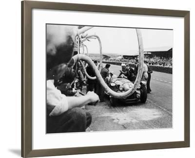 Delahaye 175S in the Pits, Le Mans, France, 1951--Framed Photographic Print