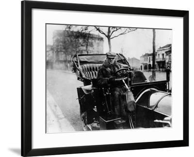 Lord Northcliffe at the Wheel of a 1908 135 Hp Mercedes, (C1908)--Framed Photographic Print