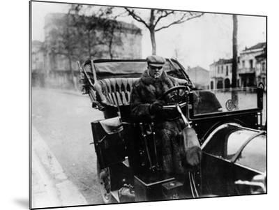 Lord Northcliffe at the Wheel of a 1908 135 Hp Mercedes, (C1908)--Mounted Photographic Print