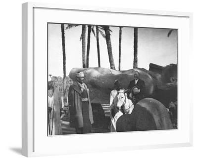 Fallen Monumental Statue of Rameses II, Memphis, Egypt, C1890-Newton & Co-Framed Photographic Print