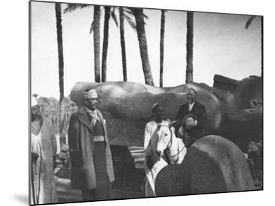 Fallen Monumental Statue of Rameses II, Memphis, Egypt, C1890-Newton & Co-Mounted Photographic Print