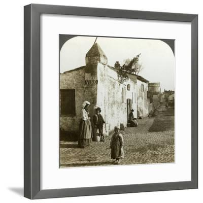 Scene on the Appian Way, Rome, Italy-Underwood & Underwood-Framed Photographic Print