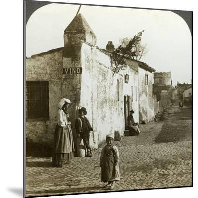 Scene on the Appian Way, Rome, Italy-Underwood & Underwood-Mounted Photographic Print