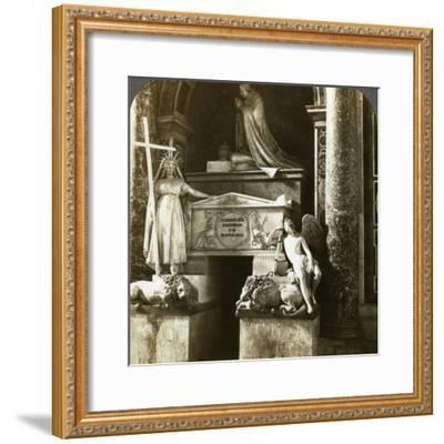 Tomb of Pope Clement XIII, St Peter's Basilica, Rome, Italy-Underwood & Underwood-Framed Photographic Print