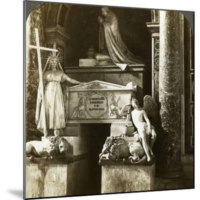 Tomb of Pope Clement XIII, St Peter's Basilica, Rome, Italy-Underwood & Underwood-Mounted Photographic Print