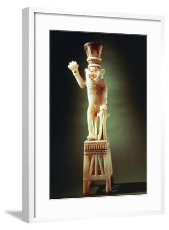 Lion Figurine from the Tomb of Tutankhamen, 14th Century BC--Framed Photographic Print
