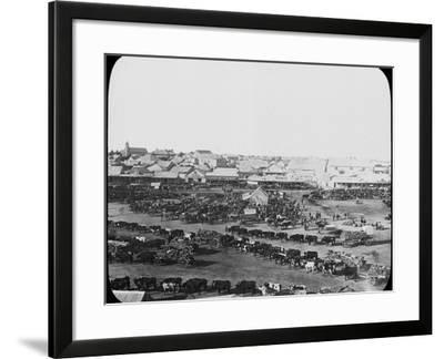 Morning Market, Kimberley, South Africa, C1890--Framed Photographic Print