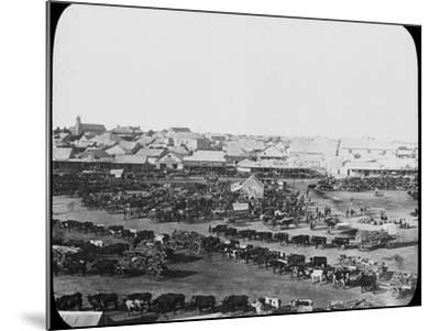 Morning Market, Kimberley, South Africa, C1890--Mounted Photographic Print