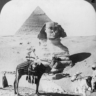 The Great Sphinx of Giza, Egypt, 1905-Underwood & Underwood-Framed Photographic Print