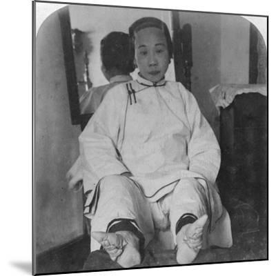 A High Caste Lady's Dainty 'Lily Feet, Showing Method of Deformity, China, 1900-Underwood & Underwood-Mounted Photographic Print