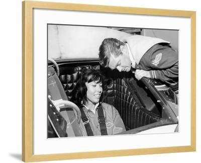Craig Breedlove Explaining the Controls of 'Spirit of America Sonic I' to His Wife, Lee, C1965--Framed Photographic Print