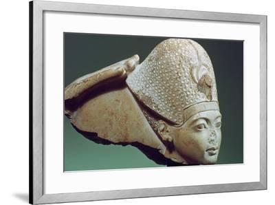 Tutankhamun Wearing the Blue Crown, 14th Century Bc--Framed Photographic Print