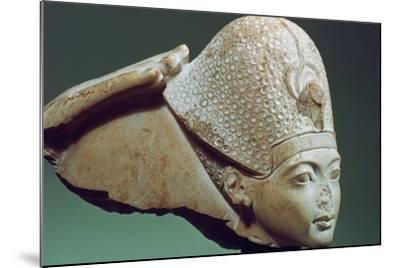 Tutankhamun Wearing the Blue Crown, 14th Century Bc--Mounted Photographic Print