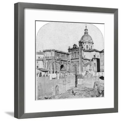 The Roman Forum, Rome, Italy, Early 20th Century--Framed Photographic Print