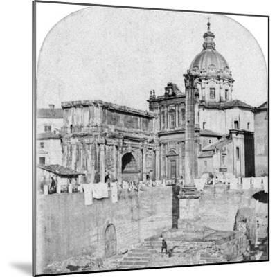 The Roman Forum, Rome, Italy, Early 20th Century--Mounted Photographic Print