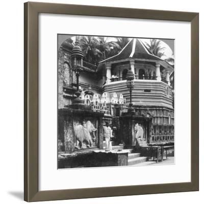 Dalada Maligawa, Palace of Buddha's Tooth, Kandy, Sri Lanka, 1902-Underwood & Underwood-Framed Photographic Print