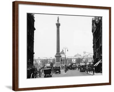 Nelson's Column, Trafalgar Square, London, 1920--Framed Photographic Print