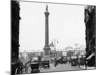Nelson's Column, Trafalgar Square, London, 1920--Mounted Photographic Print