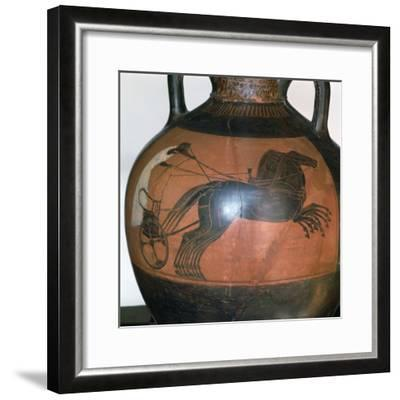 Greek Vase Depicting a Chariot, C5th-6th Century Bc--Framed Photographic Print