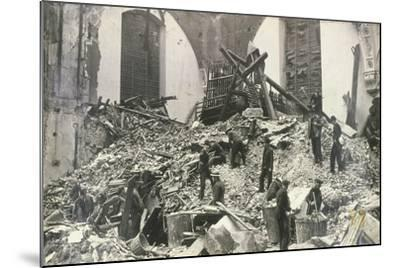 Air Raid Damage at Church of St Mildred, Bread Street, City of London, C1941--Mounted Photographic Print