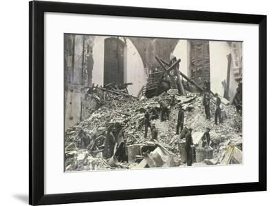 Air Raid Damage at Church of St Mildred, Bread Street, City of London, C1941--Framed Photographic Print