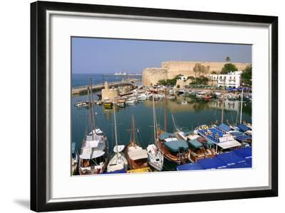 Harbour and Castle, Kyrenia (Girne), North Cyprus-Peter Thompson-Framed Photographic Print